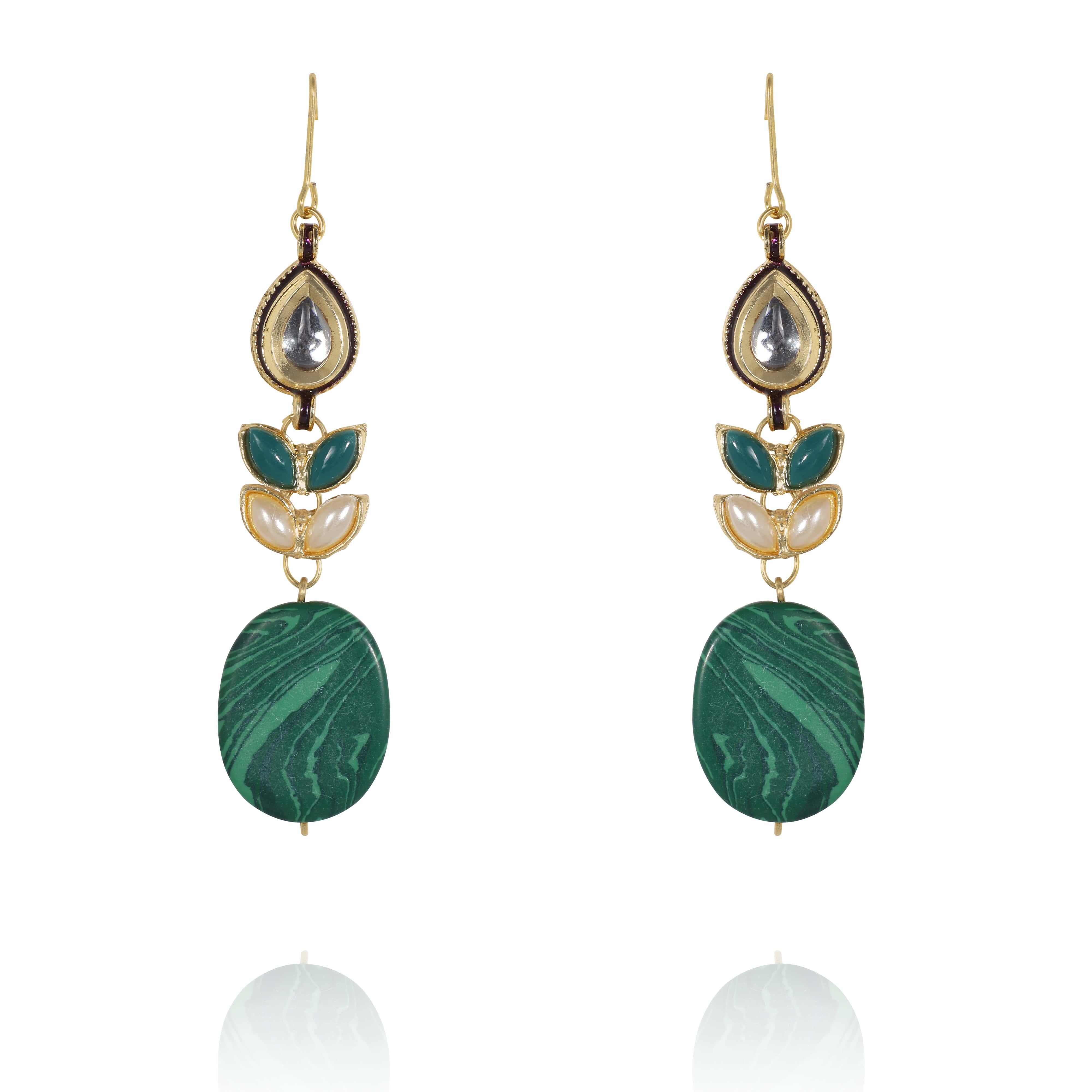 GREEN MARBLED DROPS